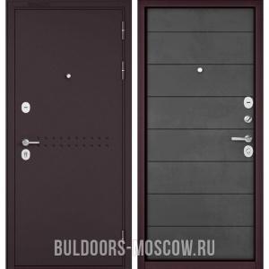 Входная дверь Бульдорс Mass-90 Букле шоколад R-4/Бетон темный 9S-135
