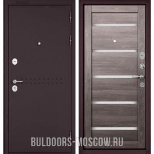 Входная дверь Бульдорс Mass-90 Букле шоколад R-4/Дуб дымчатый CR-3