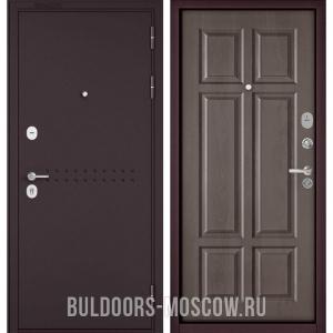 Входная дверь Бульдорс Mass-90 Букле шоколад R-4/Дуб шале серебро 9S-109