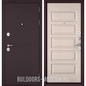 Входная дверь Бульдорс Mass-90 Букле шоколад R-4/Дуб светлый матовый 9S-108