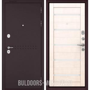 Входная дверь Бульдорс Mass-90 Букле шоколад R-4/Дуб жемчужный CR-3