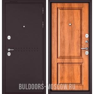 Входная дверь Бульдорс Mass-90 Букле шоколад R-4/Карамель 9SD-1