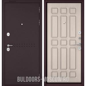 Входная дверь Бульдорс Mass-90 Букле шоколад R-4/Ларче бьянко 9S-111