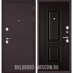 Входная дверь Бульдорс Mass-90 Букле шоколад R-4/Ларче темный 9S-104