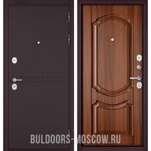 Входная дверь Бульдорс Mass-90 Букле шоколад R-4/Орех лесной 9SD-4