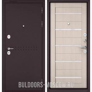 Входная дверь Бульдорс Mass-90 Букле шоколад R-4/Ларче Бьянко CR-3