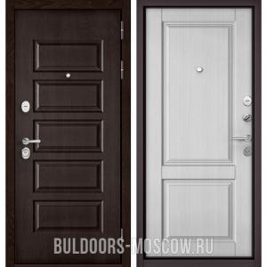 Входная дверь Бульдорс Mass-90 Ларче шоколад 9S-108/Дуб белый матовый 9SD-1