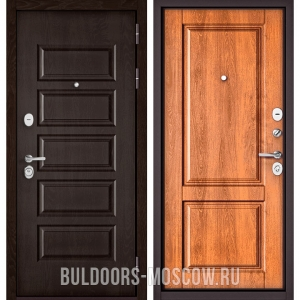 Входная дверь Бульдорс Mass-90 Ларче шоколад 9S-108/Карамель 9SD-1
