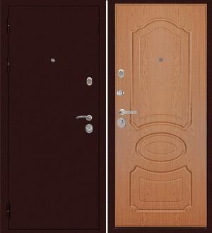 Входная дверь Дива МД-09 Медь -  Дуб светлый