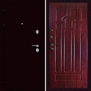 Входная дверь Дива МД-09 Медь орех тисненый