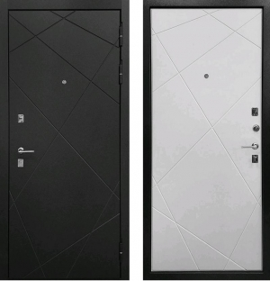 Входная дверь Ратибор Эстет 3К Силк Сноу
