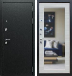 Входная дверь АСД  Next 1 с зеркалом Акация светлая поперечная