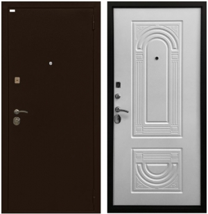 Входная дверь Ратибор Оптима 3К Матовый белый