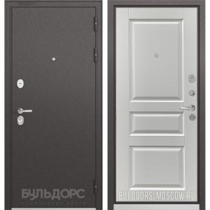 Входная дверь Бульдорс PREMIUM-90 Черный шелк/Дуб белый матовый 9PD-2