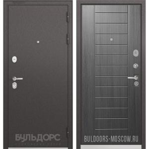 Входная дверь Бульдорс PREMIUM-90 Черный шелк/Дуб серый 9P-137