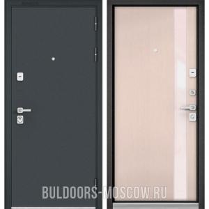Входная дверь Бульдорс PREMIUM-90 Черный шелк/Дуб светлый матовый Si-3