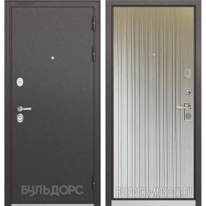 Входная дверь Бульдорс PREMIUM-90 Черный шелк/Ларче бьянко 9P-131
