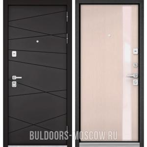 Входная дверь Бульдорс PREMIUM-90 Графит софт 9Р-130/Дуб светлый матовый Si-3