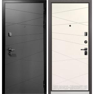 Входная дверь Бульдорс PREMIUM-90 Графит софт 9Р-130/Белый софт 9P-130