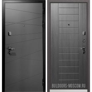 Входная дверь Бульдорс PREMIUM-90 Графит софт 9Р-130/Дуб серый 9P-137