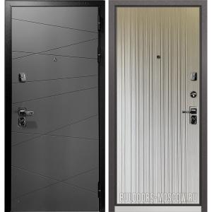 Входная дверь Бульдорс PREMIUM-90 Графит софт 9Р-130/Ларче бьянко 9P-131