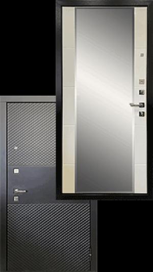 Входная дверь Ратибор Прима 3К Зеркало Матовый белый