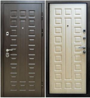 Входная дверь Снедо Сенатор 3К Винорит венге \ Белая лиственница
