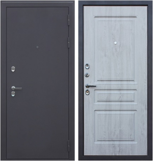 Входная дверь АСД Терморазрыв 3К  Сибирь Сосна белая