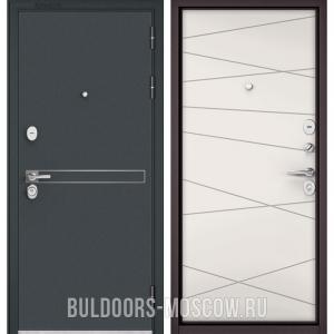 Входная дверь Бульдорс STANDART-90 Черный шелк D-4/Белый софт 9S-130