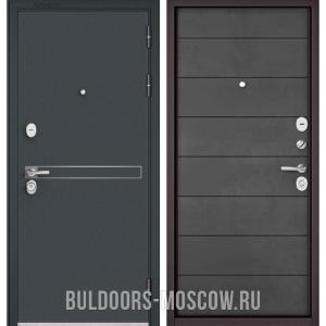 Входная дверь Бульдорс STANDART-90 Черный шелк D-4/Бетон темный 9S-135