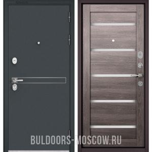 Входная дверь Бульдорс STANDART-90 Черный шелк D-4/Дуб дымчатый CR-3