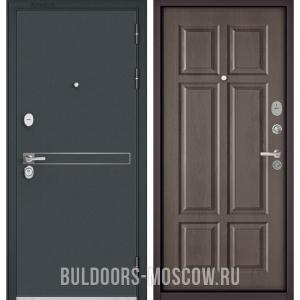Входная дверь Бульдорс STANDART-90 Черный шелк D-4/Дуб шале серебро 9S-109