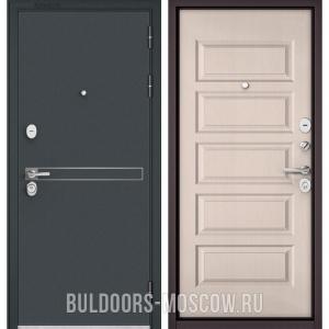 Входная дверь Бульдорс STANDART-90 Черный шелк D-4/Дуб светлый матовый 9S-108