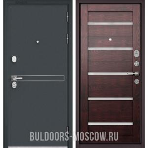Входная дверь Бульдорс STANDART-90 Черный шелк D-4/Дуб темный CR-3