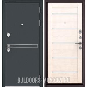 Входная дверь Бульдорс STANDART-90 Черный шелк D-4/Дуб жемчужный CR-3