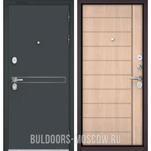 Входная дверь Бульдорс STANDART-90 Черный шелк D-4/Ясень ривьера крем 9S-136