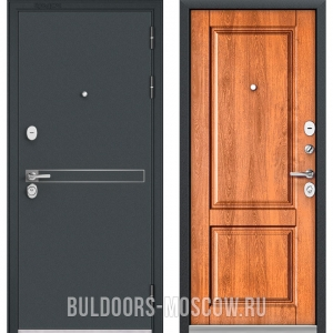 Входная дверь Бульдорс STANDART-90 Черный шелк D-4/Карамель 9SD-1