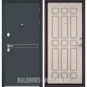 Входная дверь Бульдорс STANDART-90 Черный шелк D-4/Ларче бьянко 9S-111