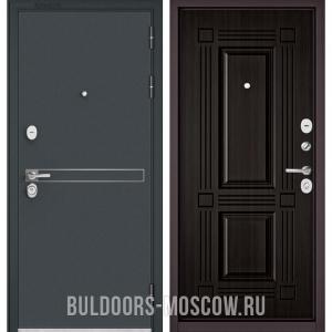 Входная дверь Бульдорс STANDART-90 Черный шелк D-4/Ларче темный 9S-104