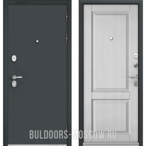 Входная дверь Бульдорс STANDART-90 Черный шелк/Дуб белый матовый 9SD-1