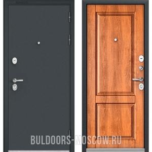 Входная дверь Бульдорс STANDART-90 Черный шелк/Карамель 9SD-1