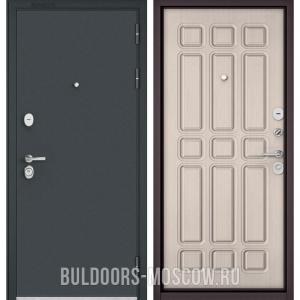 Входная дверь Бульдорс STANDART-90 Черный шелк/Ларче бьянко 9S-111