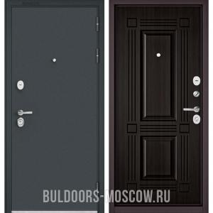 Входная дверь Бульдорс STANDART-90 Черный шелк/Ларче темный 9S-104