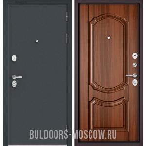 Входная дверь Бульдорс STANDART-90 Черный шелк/Орех лесной 9SD-4
