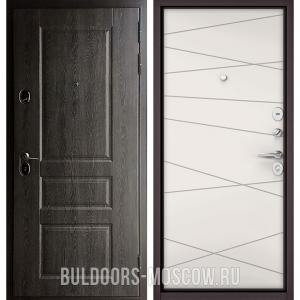 Входная дверь Бульдорс STANDART-90 Дуб графит 9SD-2/Белый софт 9S-130