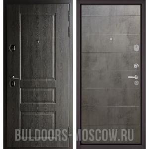 Входная дверь Бульдорс STANDART-90 Дуб графит 9SD-2/Бетон темный 9S-135