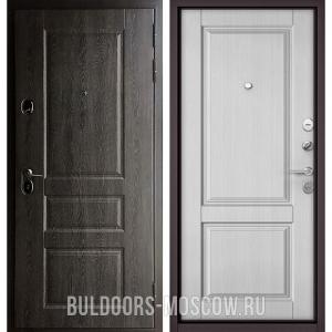Входная дверь Бульдорс STANDART-90 Дуб графит 9SD-2/Дуб белый матовый 9SD-1