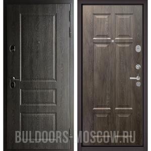 Входная дверь Бульдорс STANDART-90 Дуб графит 9SD-2/Дуб шале серебро 9S-109