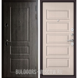 Входная дверь Бульдорс STANDART-90 Дуб графит 9SD-2/Дуб светлый матовый 9S-108