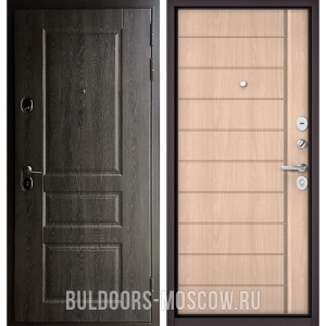Входная дверь Бульдорс STANDART-90 Дуб графит 9SD-2/Ясень ривьера крем 9S-136